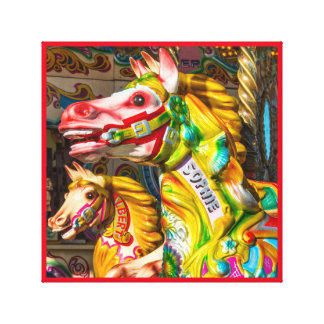Painted Horse 9 in the carnival series Canvas Print