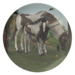 Painted Horse and Foal Plate