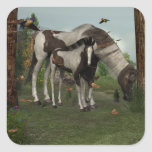 Painted Horse and Foal Sticker