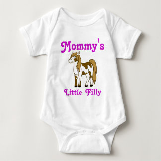 Painted Horse Custom Kids Shirt with Pink Text