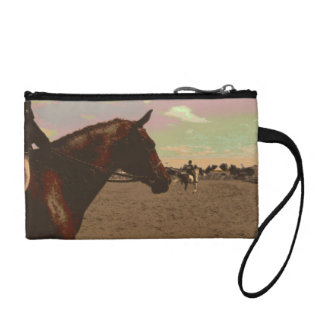 Painted Horse Key Coin Clutch Change Purse