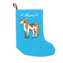 Painted Horse Small Christmas Stocking