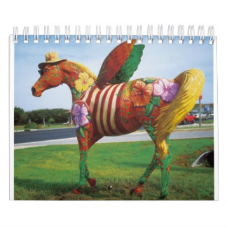 Painted Horses of Outer Banks North Carolina Calendar