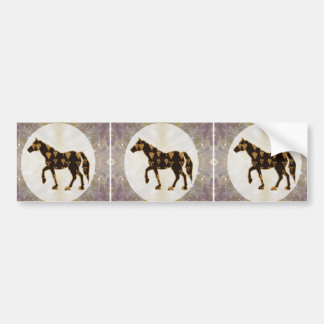 Painted Horses Stallion Polo game animals Ride Bumper Sticker