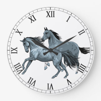 Painted Horses  Wall Clock