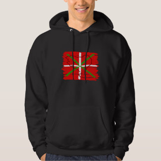 Painted Ikurriña with outline of Basque Country, Hooded Pullover