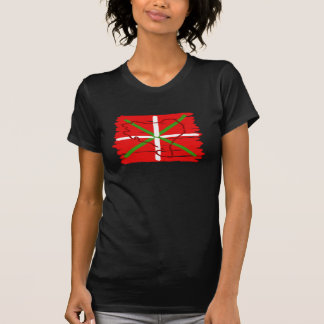 Painted Ikurriña with outline of Basque Country, T-shirts