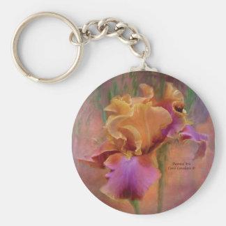 Painted Iris Art Keychain