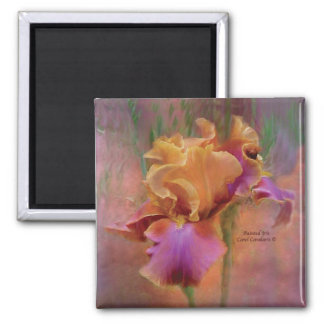 Painted Iris Art Magnet