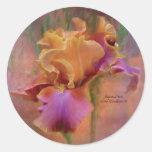 Painted Iris Art Sticker