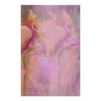 Painted Iris Stationery