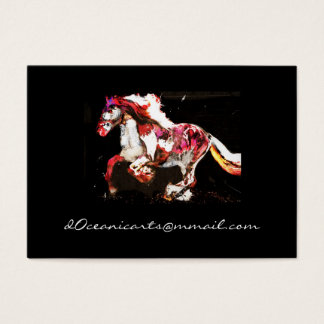 Painted Irish Gypsy Horse (2) Business Card