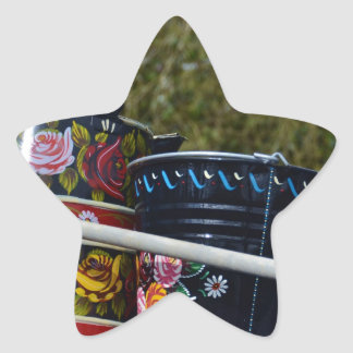 Painted Jug And Bucket Star Stickers