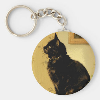 Painted Kitty Keychain