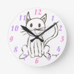 Painted Kitty Wall Clock