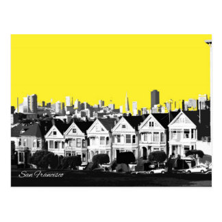 Painted Ladies Abstract Postcard