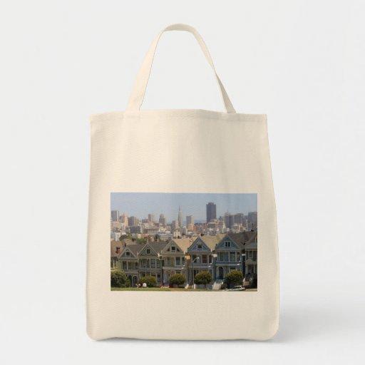 Painted Ladies Grocery Tote Bag