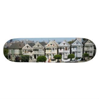 Painted Ladies Houses Steiner Street San Francisco Skateboards