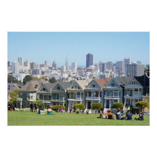 Painted Ladies in Alamo Square San Francisco Poster