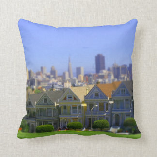 Painted Ladies in San Francisco (Tilt & Shift) Throw Pillow