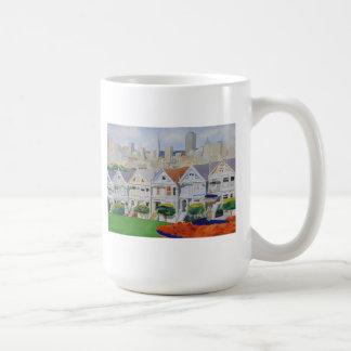 Painted Ladies Classic White Coffee Mug