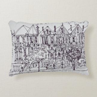 Painted Ladies | San Francisco, California Decorative Pillow