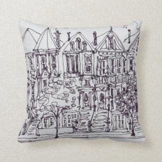 Painted Ladies | San Francisco, California Throw Pillow