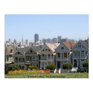Painted Ladies, San Francisco Postcard