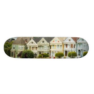 Painted Ladies, Victorian houses and skyline Custom Skateboard