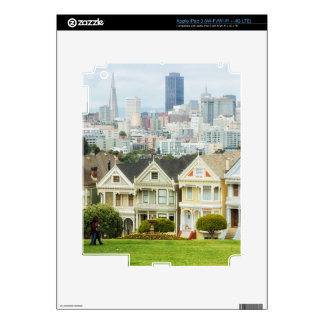 Painted Ladies, Victorian houses and skyline Decal For iPad 3