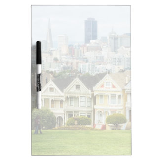 Painted Ladies, Victorian houses and skyline Dry Erase Board