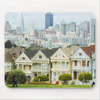 Painted Ladies, Victorian houses and skyline Mouse Pads