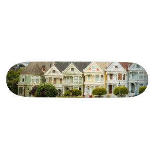Painted Ladies, Victorian houses and skyline Skateboard Deck