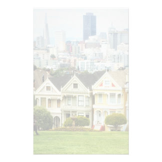 Painted Ladies, Victorian houses and skyline Stationery