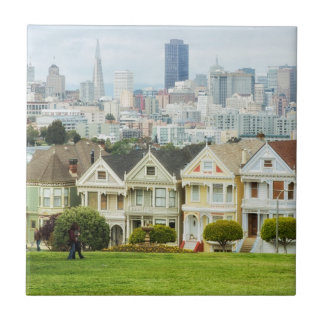 Painted Ladies, Victorian houses and skyline Tile