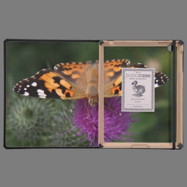 Painted lady butterfly cases for iPad