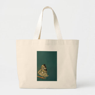 Painted Lady Butterfly Close-up Large Tote Bag