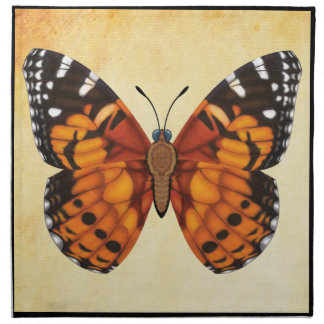 Painted Lady Butterfly Cloth Napkin