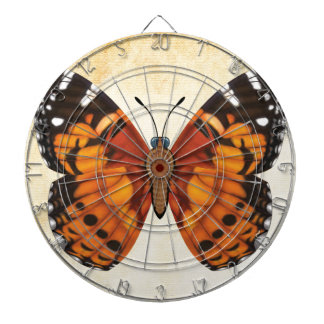 Painted Lady Butterfly Dartboard With Darts