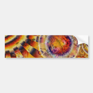 Painted Lady Butterfly Fractal Tapestry Bumper Sticker