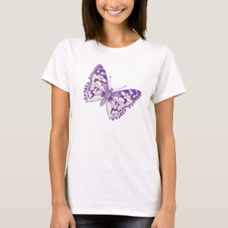 Painted lady butterfly graphic inked purple T-Shirt