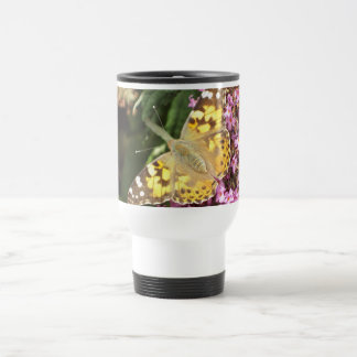 Painted Lady Butterfly 15 Oz Stainless Steel Travel Mug