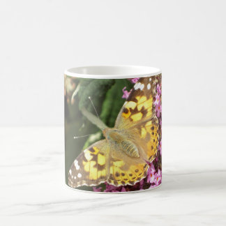 Painted Lady Butterfly Classic White Coffee Mug