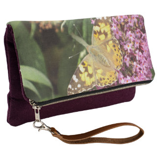 Painted Lady Butterfly on Buddleia Clutch