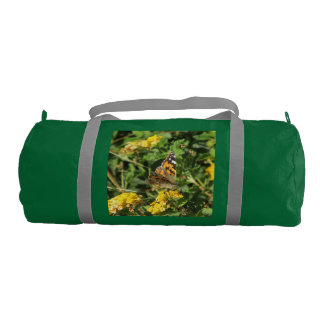 Painted Lady Butterfly on Lantana Blooms Gym Bag