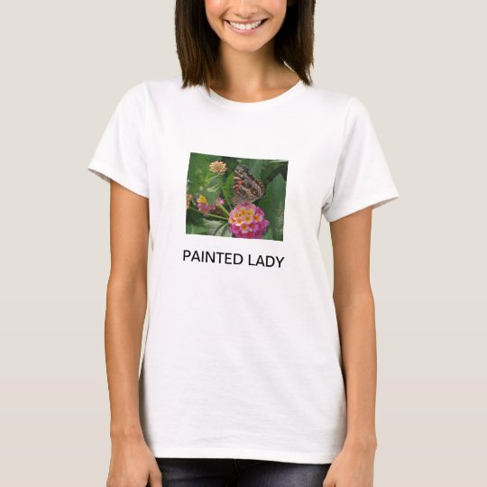 PAINTED LADY BUTTERFLY ON LANTANA FLOWERS T-Shirt