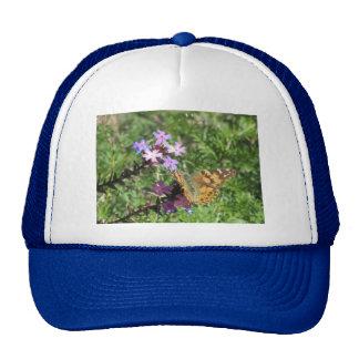 Painted Lady Butterfly on Purple Flowers Trucker Hat