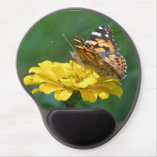 Painted Lady Butterfly on Zinnia Gel Mouse Pad