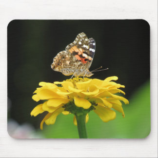 Painted Lady Butterfly on Zinnia Mouse Pad