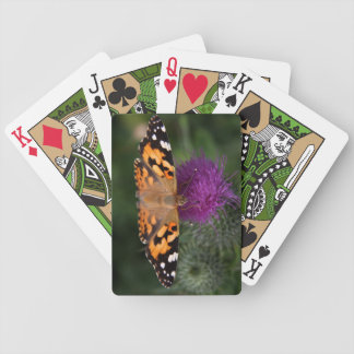 Painted lady butterfly bicycle poker deck